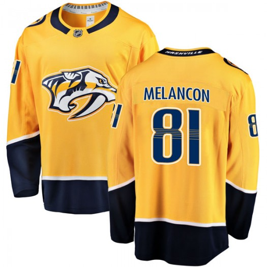 T.J. Melancon Nashville Predators Men's Fanatics Branded Gold Breakaway Home Jersey