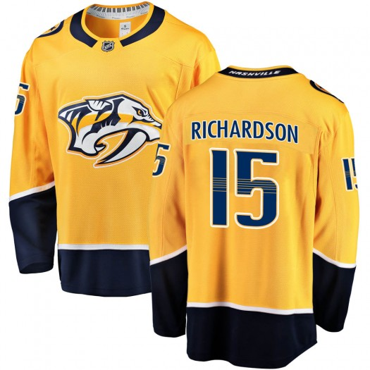Brad Richardson Nashville Predators Men's Fanatics Branded Gold Breakaway Home Jersey