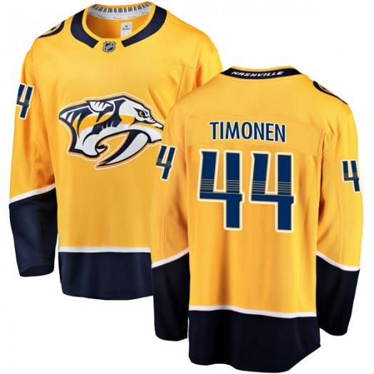 Kimmo Timonen Nashville Predators Men's Fanatics Branded Gold Breakaway Home Jersey