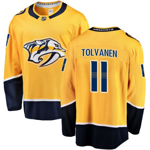 Eeli Tolvanen Nashville Predators Men's Fanatics Branded Gold Breakaway Home Jersey