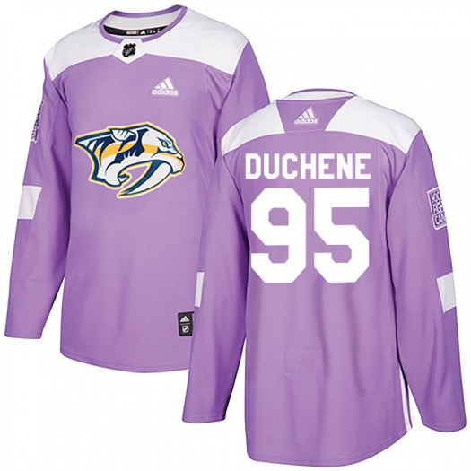 Matt Duchene Nashville Predators Youth Adidas Authentic Purple Fights Cancer Practice Jersey