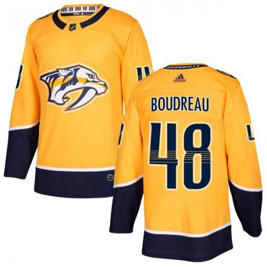 Gabryel Boudreau Nashville Predators Men's Adidas Authentic Gold Home Jersey