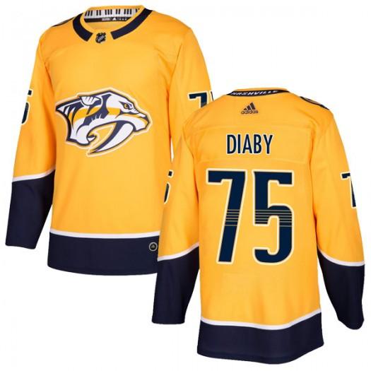 Jonathan-Ismael Diaby Nashville Predators Men's Adidas Authentic Gold Home Jersey