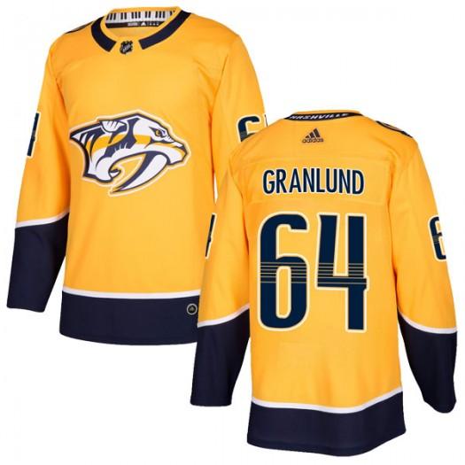 Mikael Granlund Nashville Predators Men's Adidas Authentic Gold Home Jersey