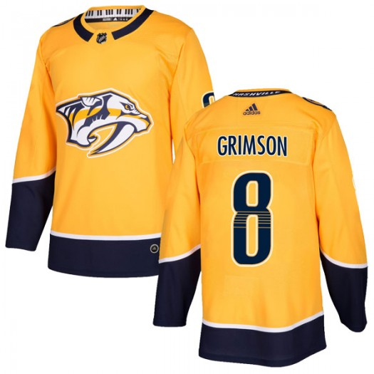 Stu Grimson Nashville Predators Men's Adidas Authentic Gold Home Jersey