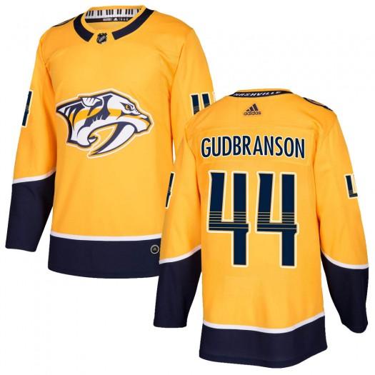 Erik Gudbranson Nashville Predators Men's Adidas Authentic Gold Home Jersey