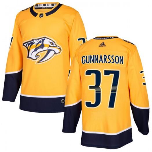 Jonas Gunnarsson Nashville Predators Men's Adidas Authentic Gold Home Jersey