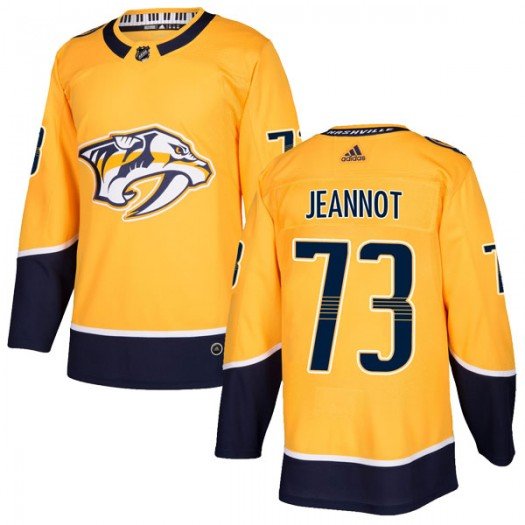 Tanner Jeannot Nashville Predators Men's Adidas Authentic Gold Home Jersey