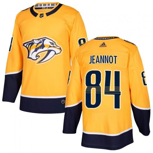 Tanner Jeannot Nashville Predators Men's Adidas Authentic Gold Home Jersey
