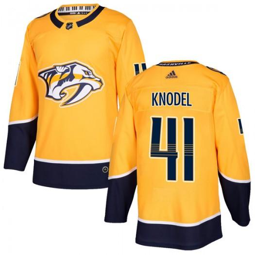 Eric Knodel Nashville Predators Men's Adidas Authentic Gold Home Jersey