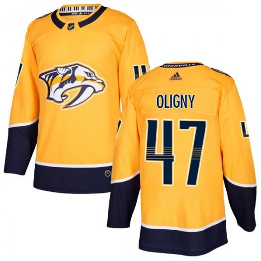 Jimmy Oligny Nashville Predators Men's Adidas Authentic Gold Home Jersey