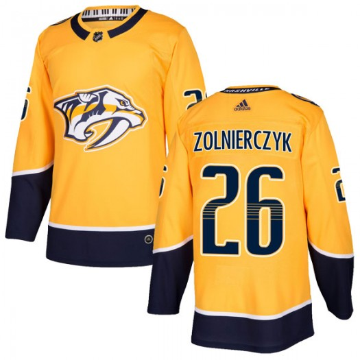 Harry Zolnierczyk Nashville Predators Men's Adidas Authentic Gold Home Jersey