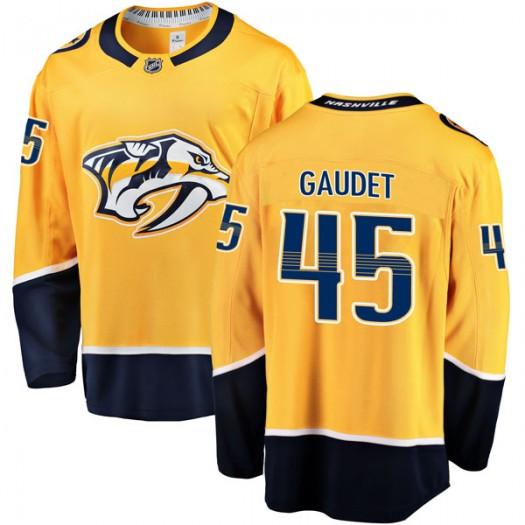 Tyler Gaudet Nashville Predators Youth Fanatics Branded Gold Breakaway Home Jersey