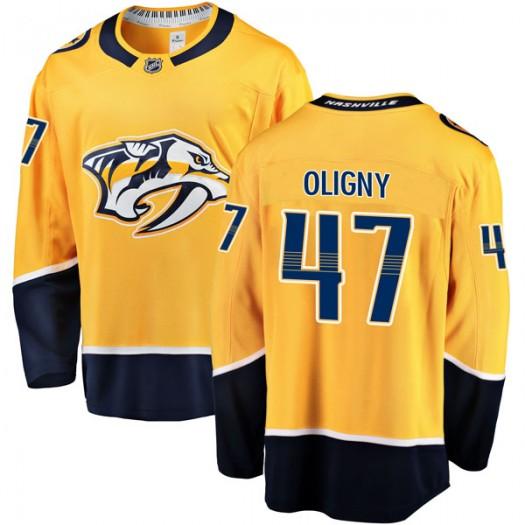 Jimmy Oligny Nashville Predators Youth Fanatics Branded Gold Breakaway Home Jersey