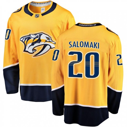 Miikka Salomaki Nashville Predators Youth Fanatics Branded Gold Breakaway Home Jersey