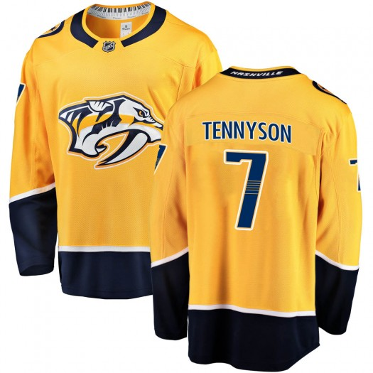 Matt Tennyson Nashville Predators Youth Fanatics Branded Gold Breakaway Home Jersey