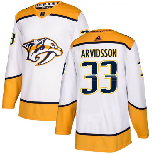 Viktor Arvidsson Nashville Predators Youth Adidas Authentic White Away Jersey