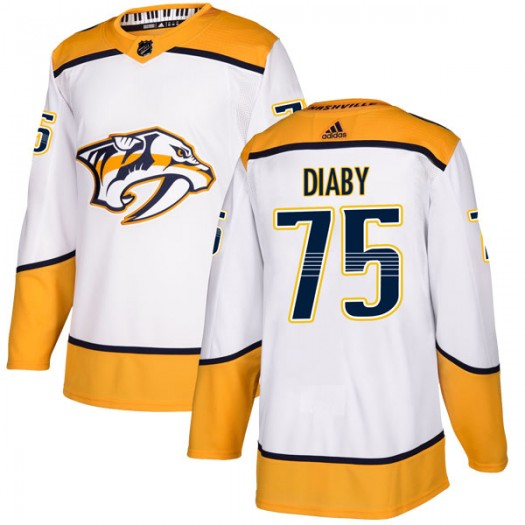 Jonathan-Ismael Diaby Nashville Predators Youth Adidas Authentic White Away Jersey