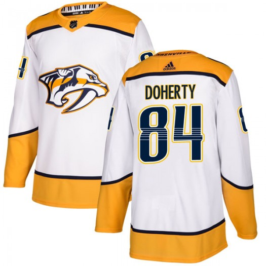 Teddy Doherty Nashville Predators Youth Adidas Authentic White Away Jersey