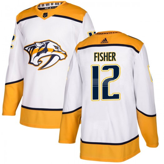 Mike Fisher Nashville Predators Youth Adidas Authentic White Away Jersey