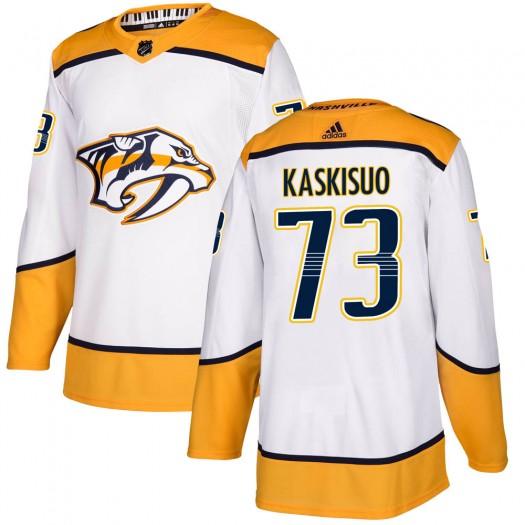 Kasimir Kaskisuo Nashville Predators Youth Adidas Authentic White Away Jersey