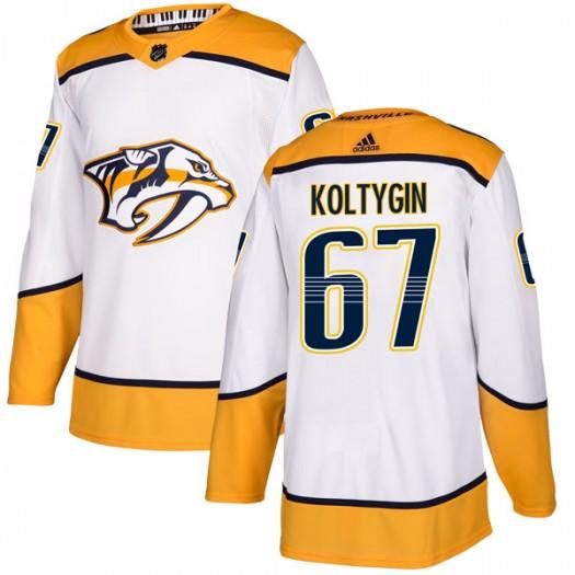 Pavel Koltygin Nashville Predators Youth Adidas Authentic White Away Jersey