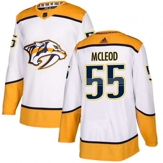 Cody Mcleod Nashville Predators Youth Adidas Authentic White Cody McLeod Away Jersey