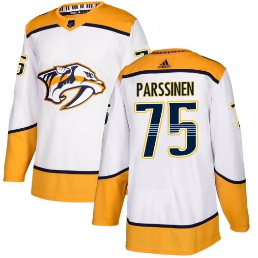 Juuso Parssinen Nashville Predators Youth Adidas Authentic White Away Jersey