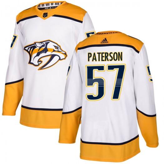 Jake Paterson Nashville Predators Youth Adidas Authentic White Away Jersey