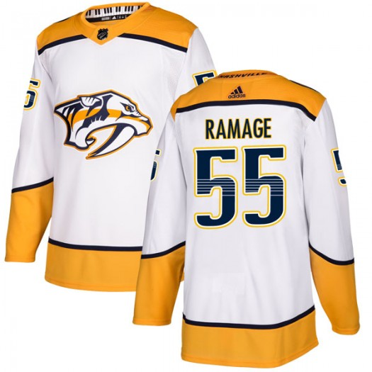 John Ramage Nashville Predators Youth Adidas Authentic White Away Jersey