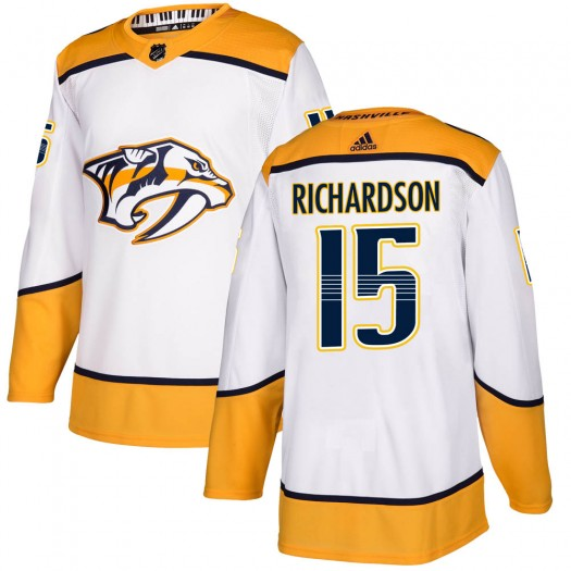 Brad Richardson Nashville Predators Youth Adidas Authentic White Away Jersey