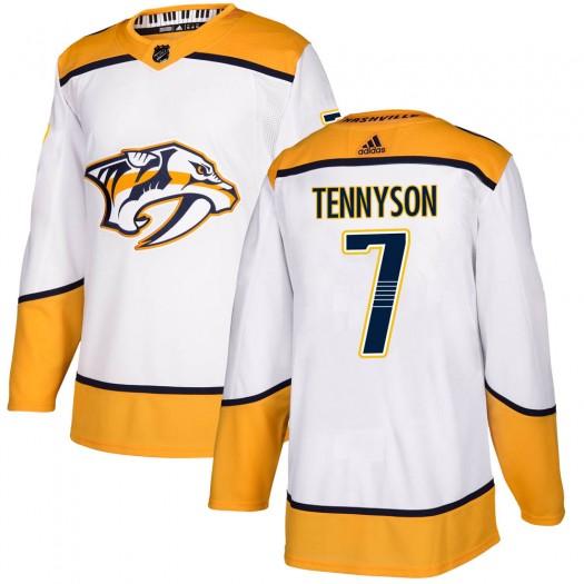 Matt Tennyson Nashville Predators Youth Adidas Authentic White Away Jersey