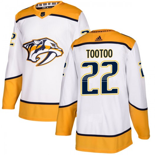 Jordin Tootoo Nashville Predators Youth Adidas Authentic White Away Jersey