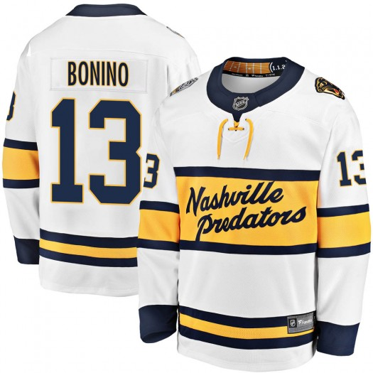 Nick Bonino Nashville Predators Youth Fanatics Branded White 2020 Winter Classic Breakaway Jersey