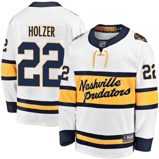 Korbinian Holzer Nashville Predators Youth Fanatics Branded White ized 2020 Winter Classic Breakaway Player Jersey