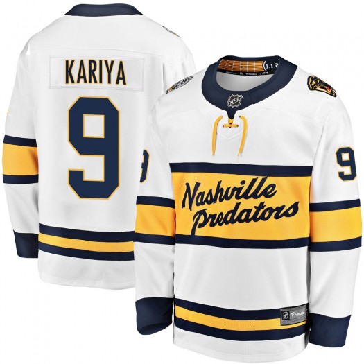 Paul Kariya Nashville Predators Youth Fanatics Branded White 2020 Winter Classic Breakaway Jersey