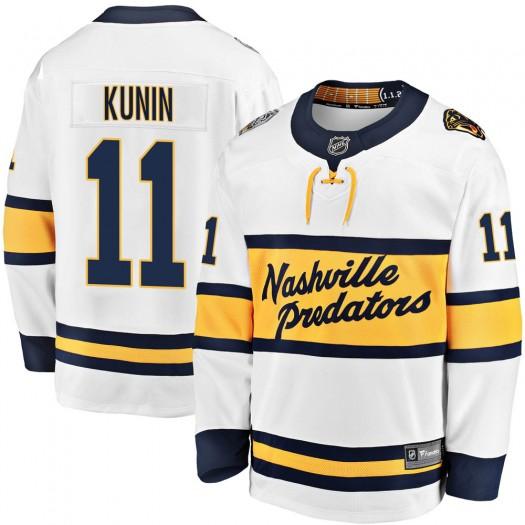 Luke Kunin Nashville Predators Youth Fanatics Branded White 2020 Winter Classic Breakaway Player Jersey