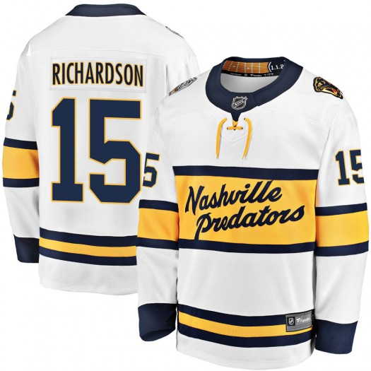 Brad Richardson Nashville Predators Youth Fanatics Branded White 2020 Winter Classic Breakaway Player Jersey