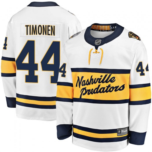 Kimmo Timonen Nashville Predators Youth Fanatics Branded White 2020 Winter Classic Breakaway Jersey