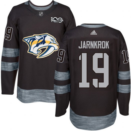 Calle Jarnkrok Nashville Predators Men's Adidas Authentic Black 1917-2017 100th Anniversary Jersey