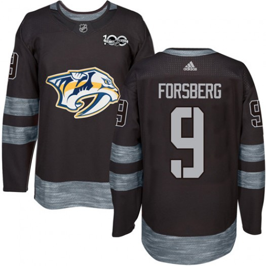 Filip Forsberg Nashville Predators Men's Adidas Authentic Black 1917-2017 100th Anniversary Jersey