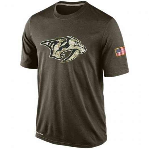 Nashville Predators Men's Nike Olive Salute To Service KO Performance Dri-FIT T-Shirt