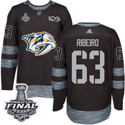 Mike Ribeiro Nashville Predators Men's Adidas Authentic Black 1917-2017 100th Anniversary 2017 Stanley Cup Final Jersey