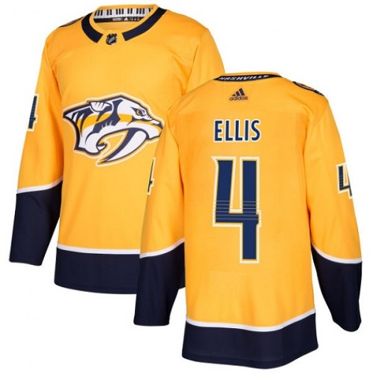 Ryan Ellis Nashville Predators Youth Adidas Authentic Gold Home Jersey