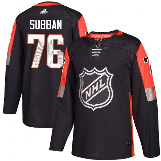 P.K. Subban Nashville Predators Men's Adidas Authentic Black 2018 All-Star Central Division Jersey